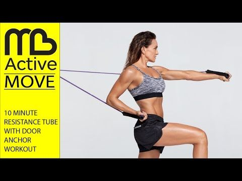 10 Minute Workout Michelle Bridges Resistance Tube With Door Anchor Youtube Resistance Tube Workout Michelle Bridges 10 Minute Workout