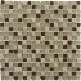 "Solstice Blend 1/2"" X 1/2"" Glass Tiles | TileBar.com"