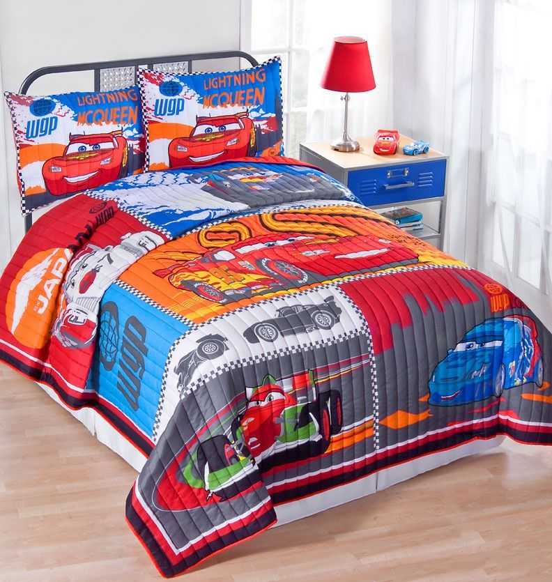 Disney Cars 2 Quilt Set In Twin And Full Queen Sets