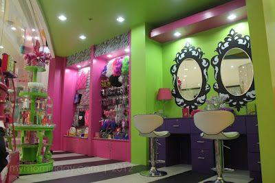 My Mom Friday Fun Friday Play And Party At Kidzville Kids Hair Salon Kids Salon Beauty Salon Decor