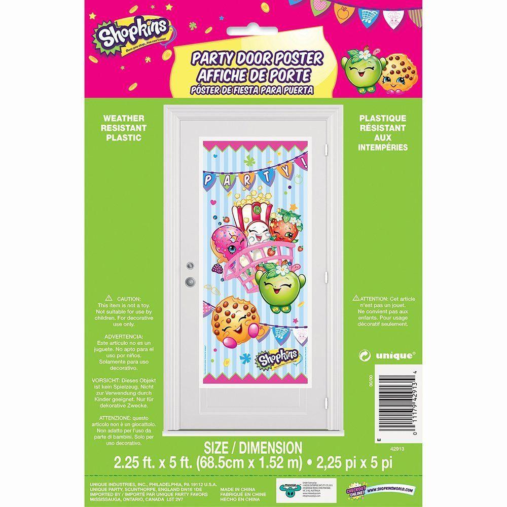 Shopkins Happy Birthday Door Sign Decor. Shopkins Door Sign