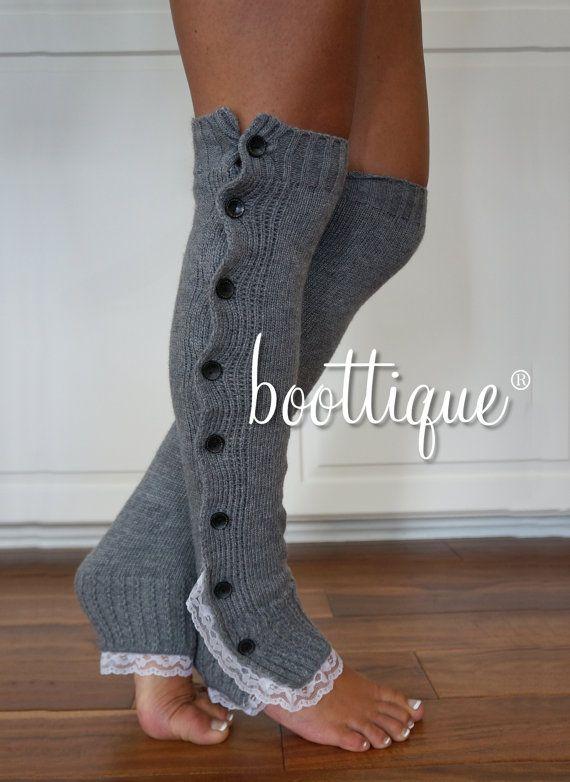 Color: Ivory CYBER SPECIAL Stocker Stuffer Leg Warmers Knitted Leg Warmers