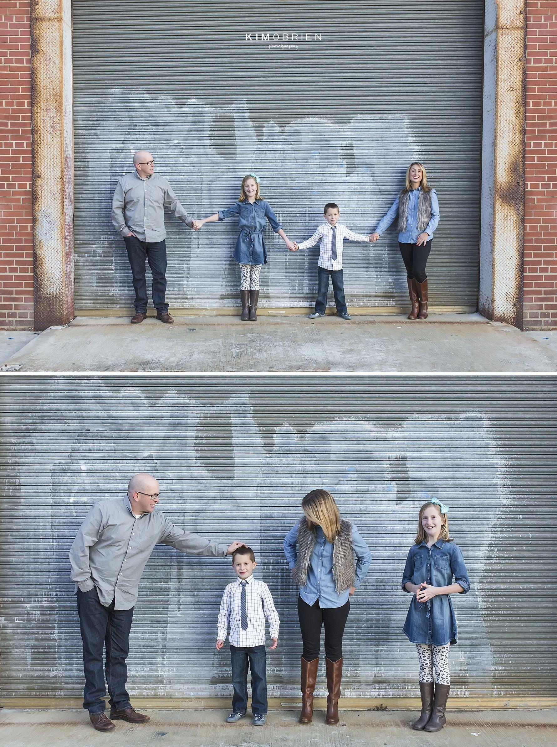 family of four ~ urban family photo session ~ raleigh north carolina family photographer #familyphotographer