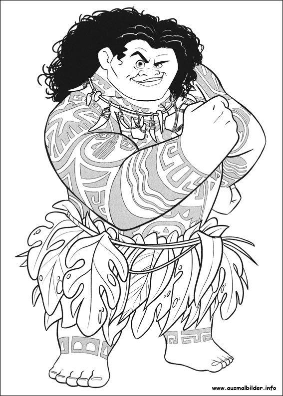 Ausmalbilder Vaiana Maui Moana coloring pages Moana