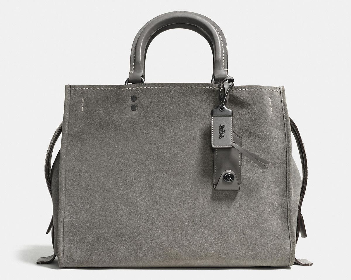 2b97ef2b2b32 Coach Rogue Bag in Grey Suede
