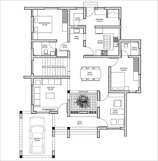3 Bedroom Contemporary Minimalistic House Design with Free Plan