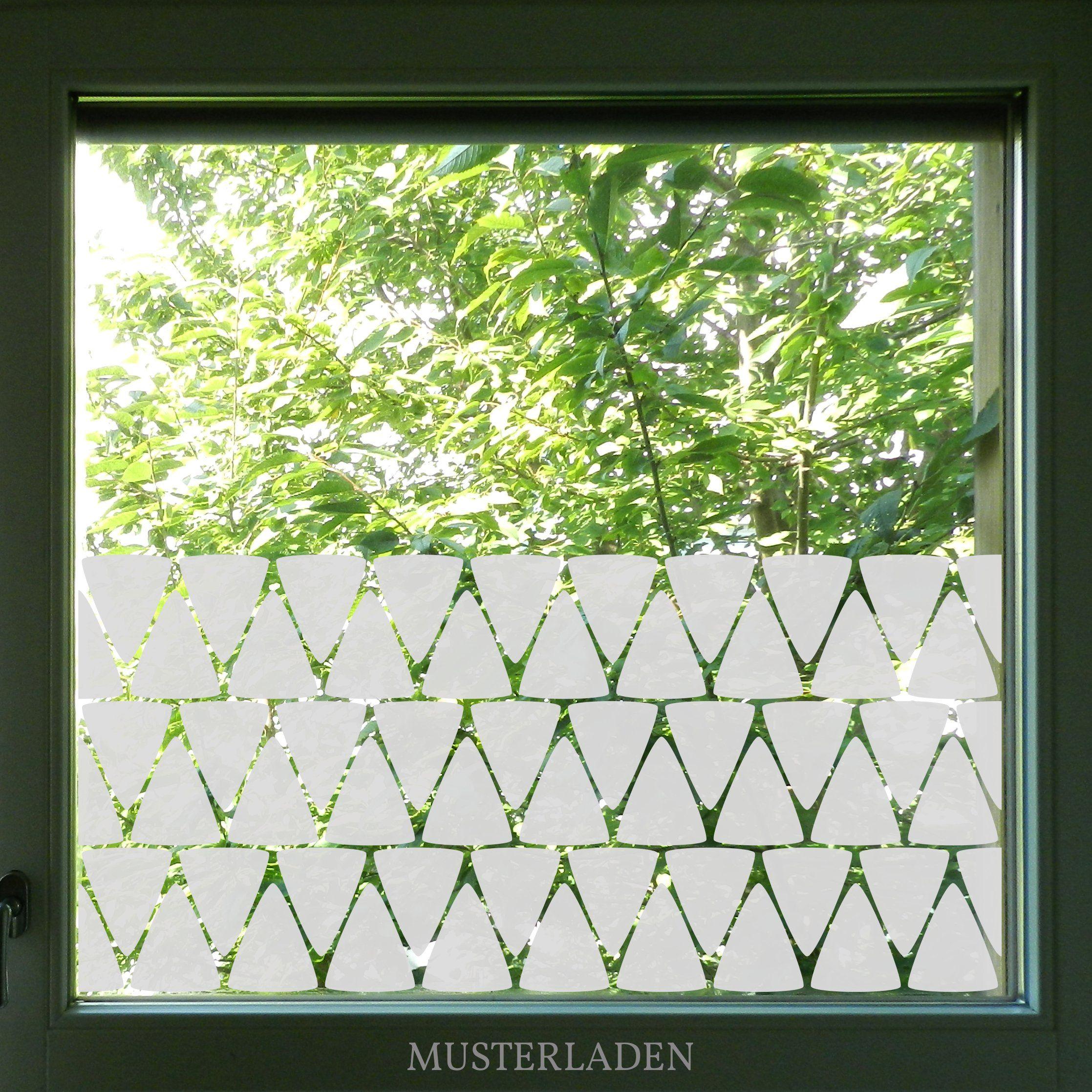 Geometrisches Fenstertattoo Dreiecke Folie Fur Fenster