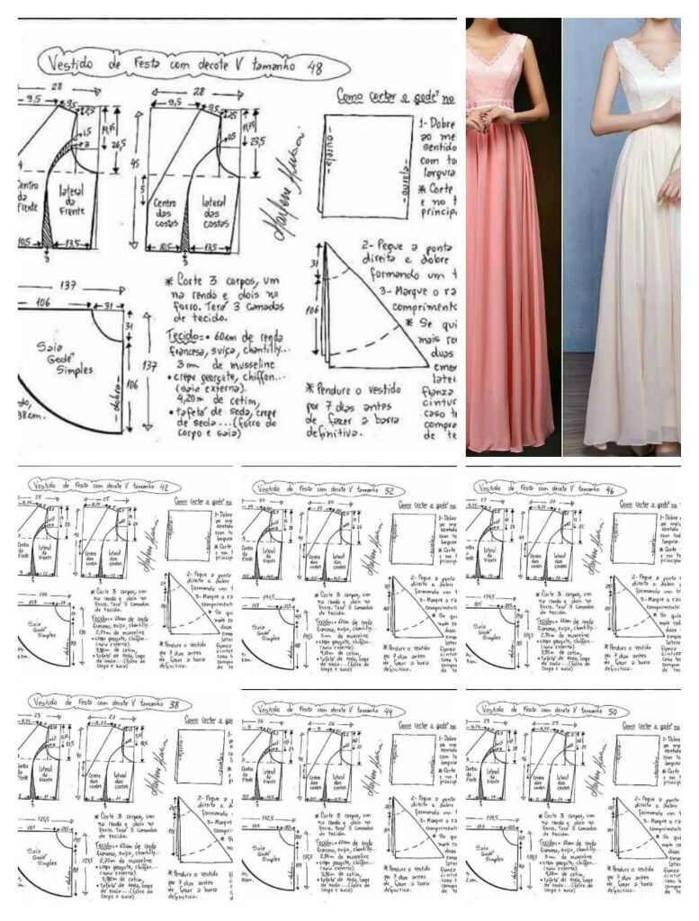 Long dress pattern size 36-46 | patrones | Pinterest | Patrones ...