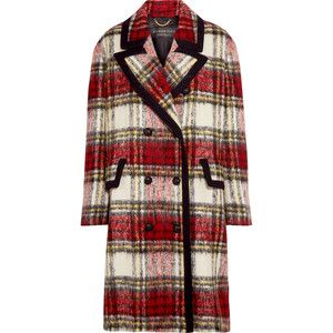 Burberry Tartan wool-blend coat