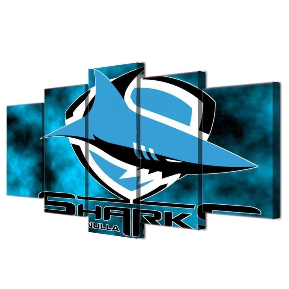 Cronulla Sharks Nrl Football Canvas Wall Art Football Canvas Canvas Wall Art Wall Art