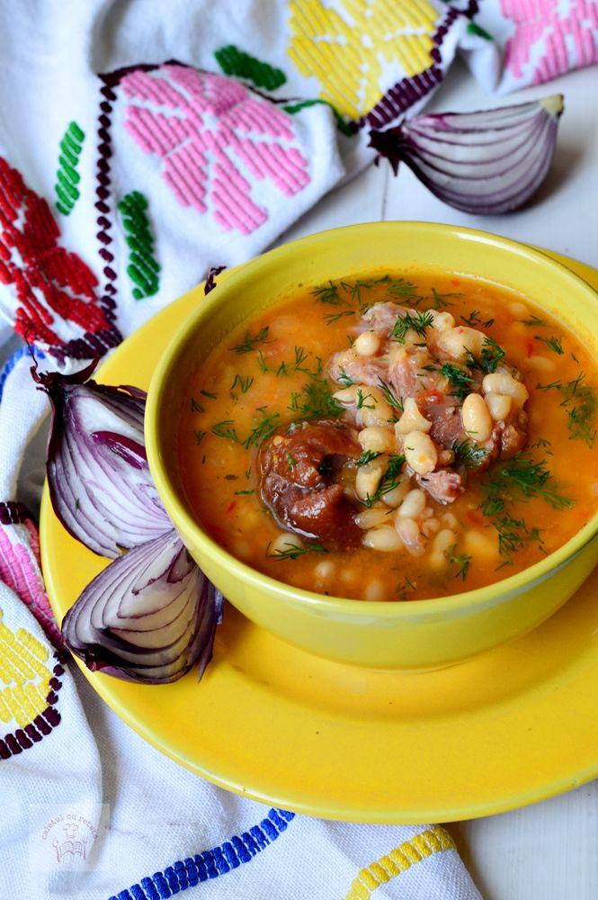 Supa De Fasole Cu Ciolan Romanian Food Food Soup Recipes