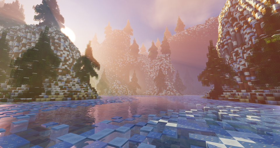 So Yeah We Build A Winter Map Minecraft Minecraft Wallpaper Minecraft Shaders Minecraft Pictures