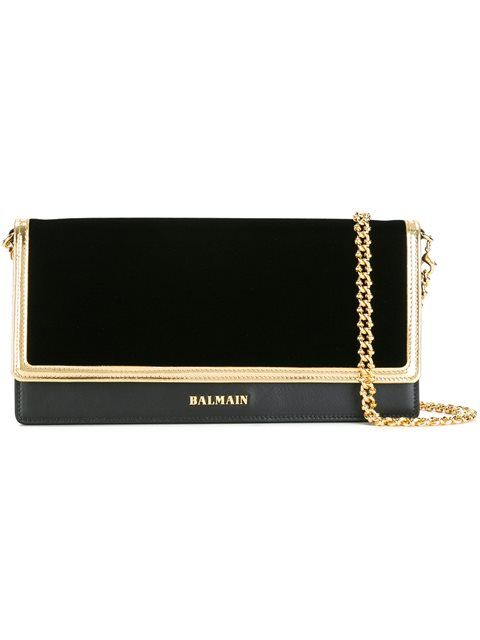 392967fde4 Shop Balmain flap closure clutch bag in Julian Fashion from the world s  best independent boutiques at farfetch.com. Shop 400 boutiques at one  address.