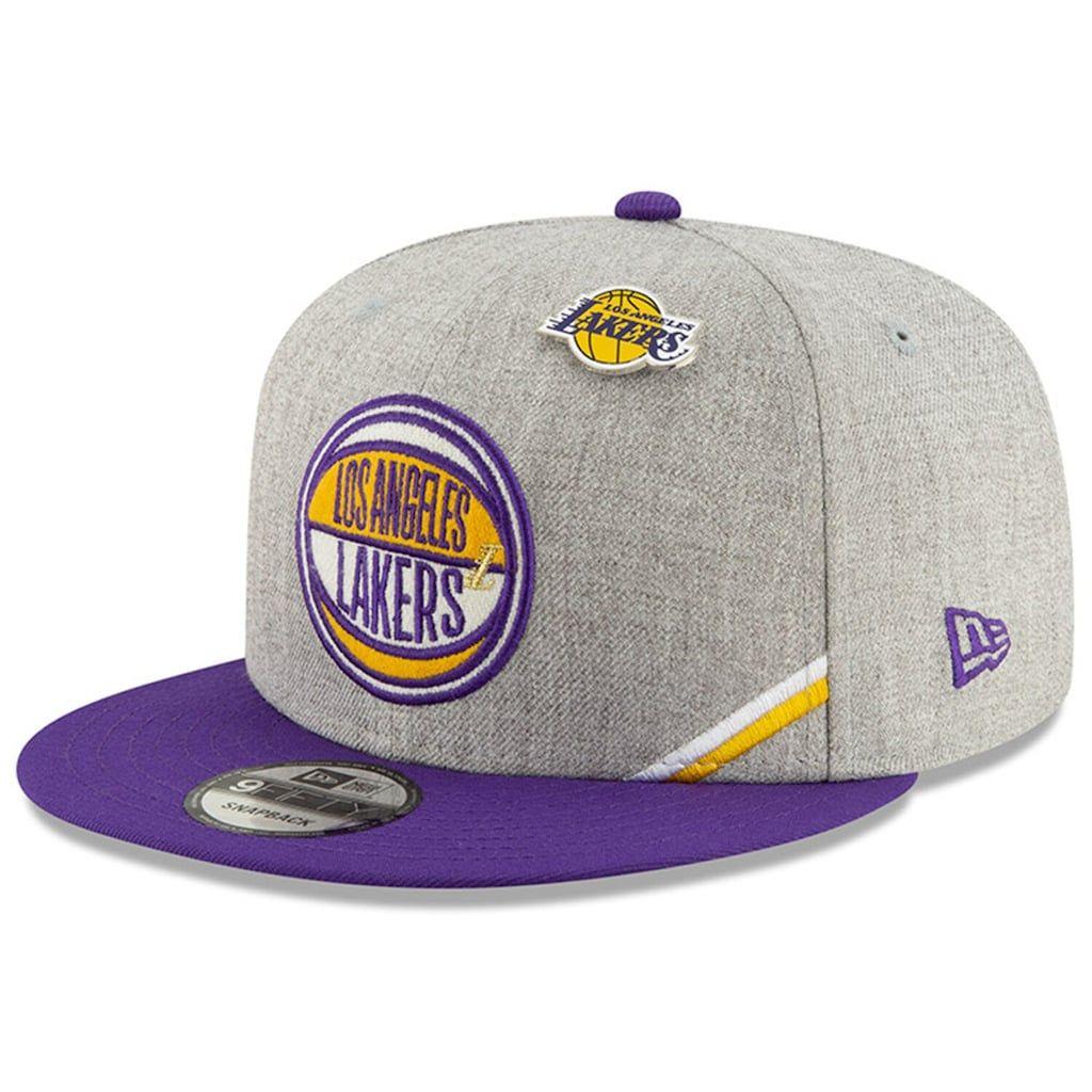 Men S New Era Heather Gray Los Angeles Lakers 2019 Nba Draft 9fifty Snapback Adjustable Hat Snapback Adjustable Hat Hats