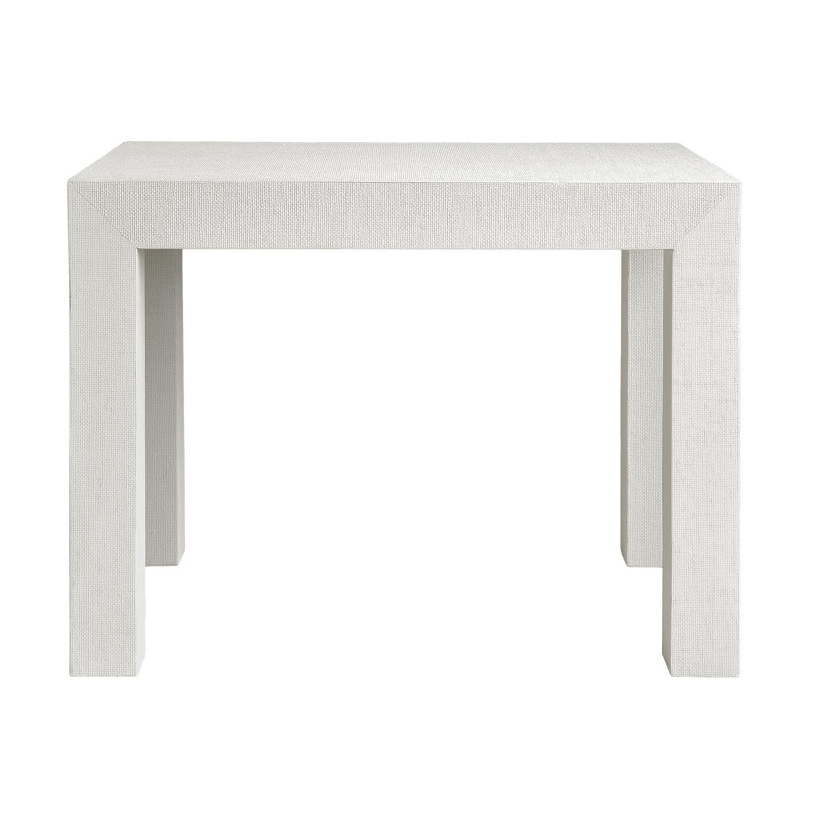 Bungalow 5 Parsons Side Table in White Grasscloth