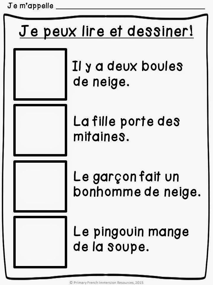primary french immersion resources assessment in grade 1 fi lecture et comprehension. Black Bedroom Furniture Sets. Home Design Ideas