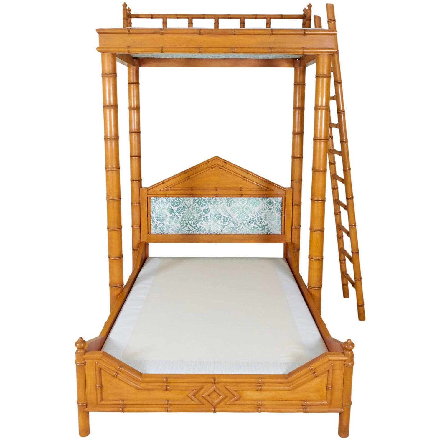 Faux Bamboo Bed with Platform Canopy Faux bamboo, Modern