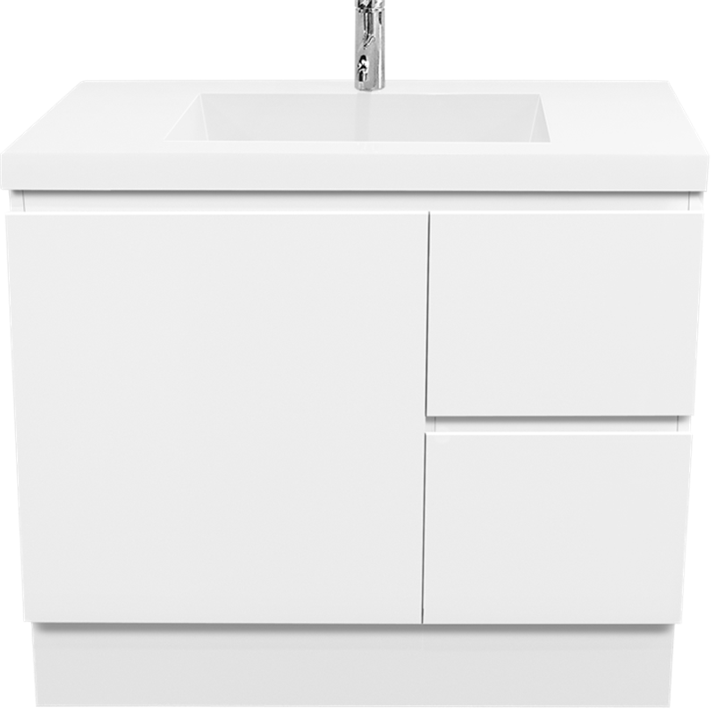Find cibo design 900mm function slimline floor vanity at for Local bathroom vanities