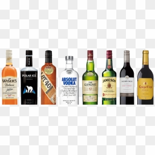 A Row Of Corby Owned Bottles J Row Of Liquor Bottles Hd Png Download Liquor Bottles Bottle Liquor