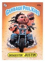 Garbage Pail Kids Series 2 1985 47a Disgustin Justin Garbage Pail Kids Garbage Pail Kids Cards Pail