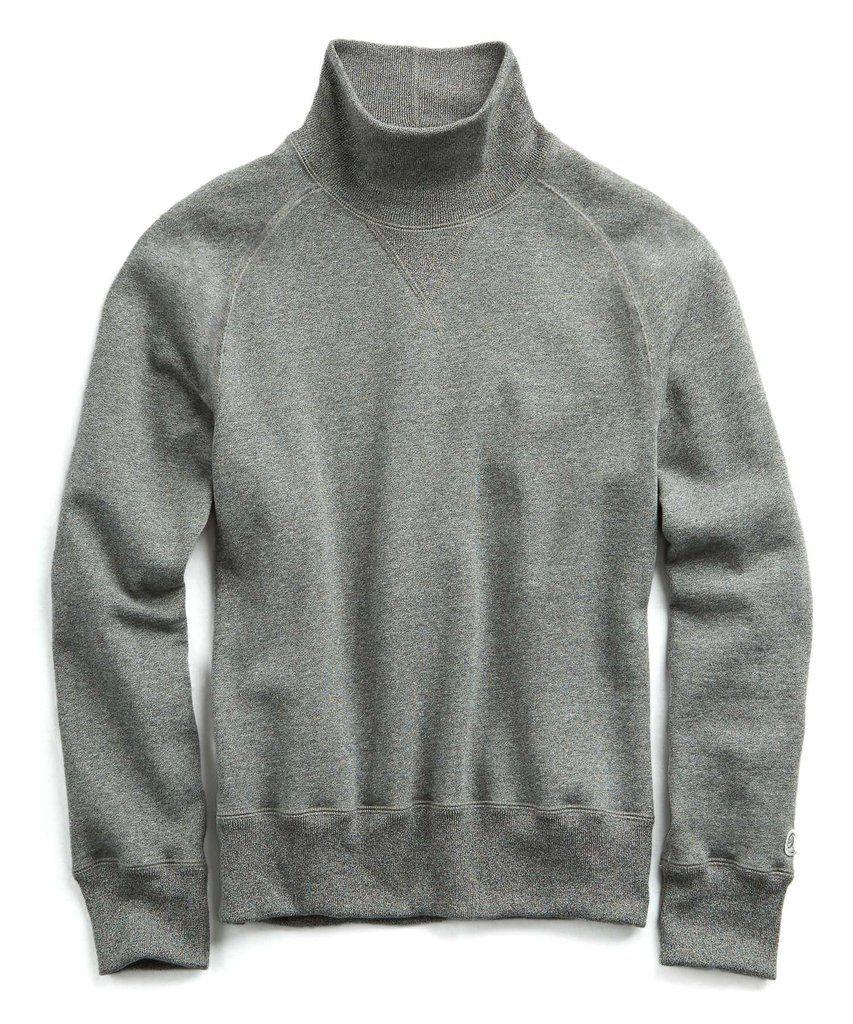 209e5ab2b8a6bd Champion Turtleneck Sweatshirt in Salt and Pepper by Todd Syndar ...