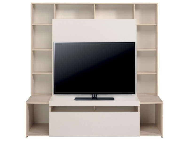 latest paroi tv orlando coloris blanc mlze pas cher cuest sur conforama with conforama meuble. Black Bedroom Furniture Sets. Home Design Ideas