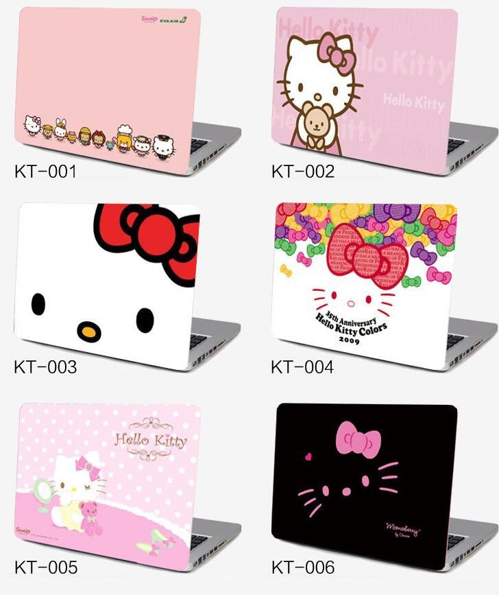 39118a25d Notebook computer case film 10 15.6 inch computer sticker outside  protective cover laptop ipad HELLO KITTY sanrio KT skin Decal