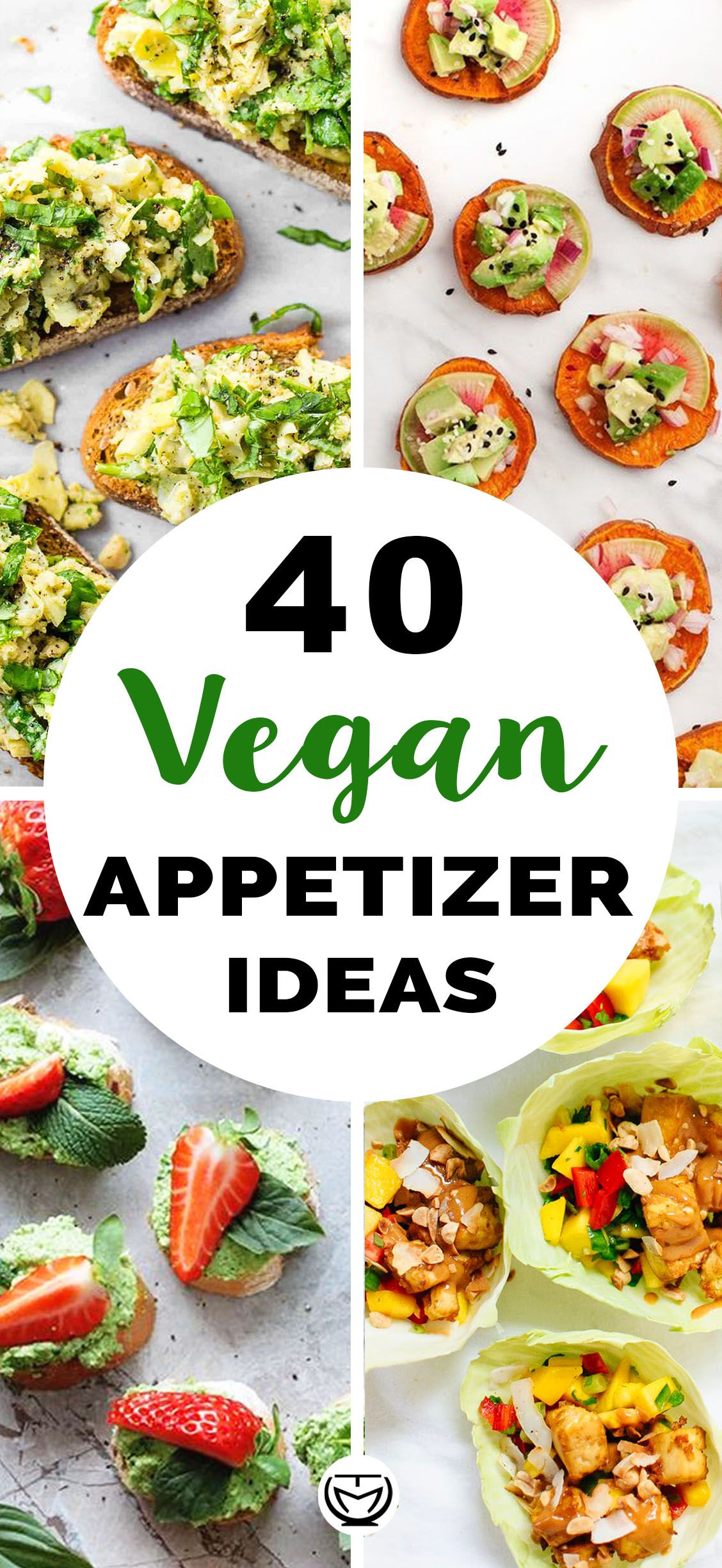 40 Easy vegan appetizer ideas #appetizersforparty