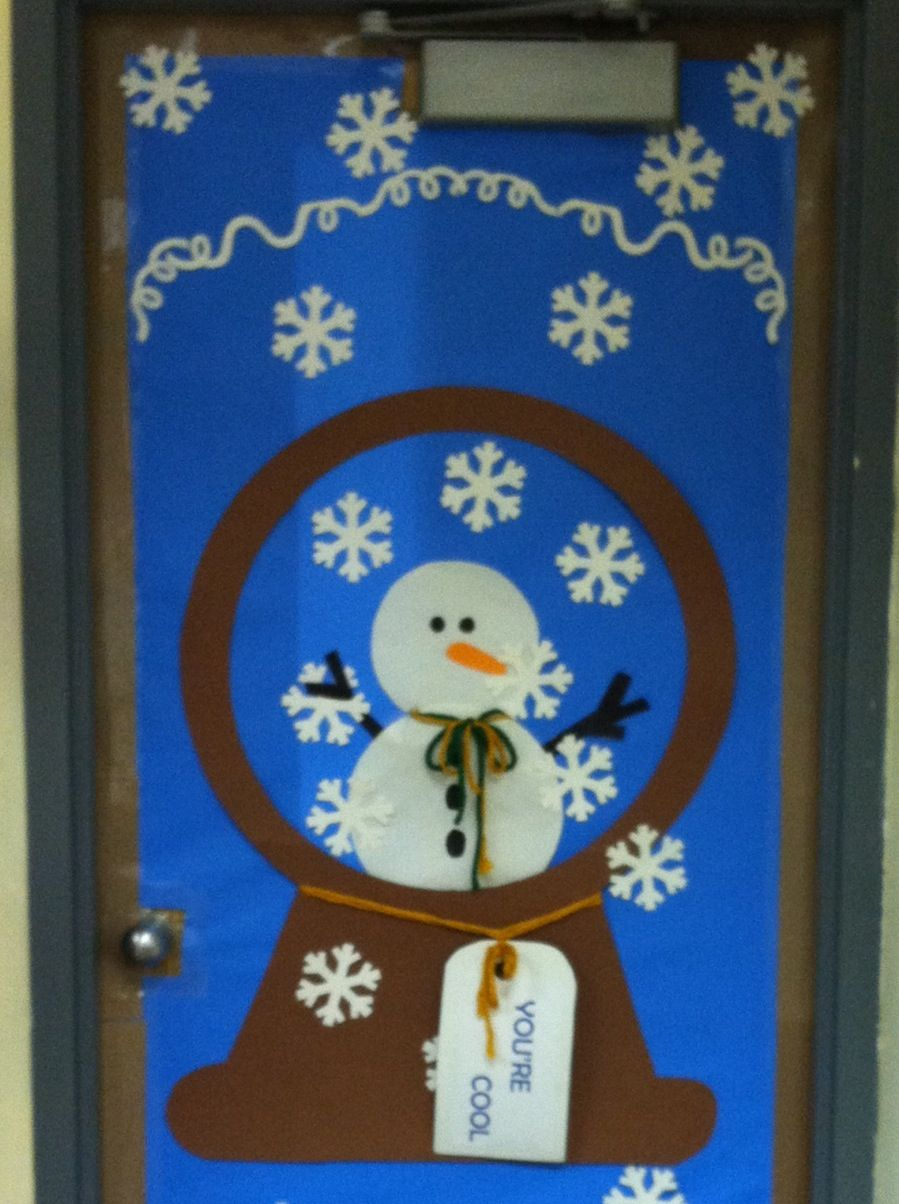Classroom Door Decoration Ideas For January : Winter door decoration school days