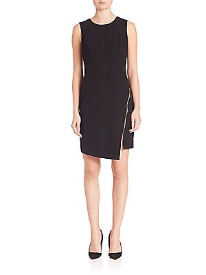 MILLY Zipper Sheath Dress