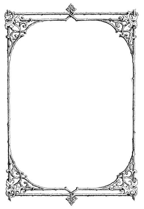 vgosn_vintage_ornate_frame_border_clip_art_image Graphics - border templates for word
