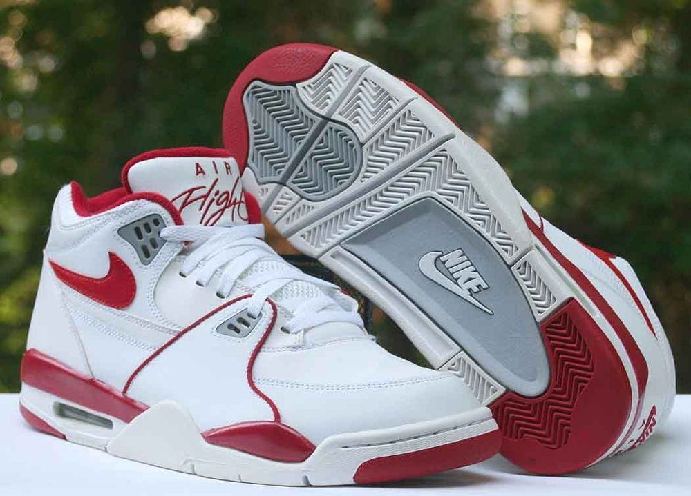 61857e436620 Nike Air Flight 89 White Red Grey 306252-105 Men s Basketball Shoes Size 10   Nike  BasketballShoes