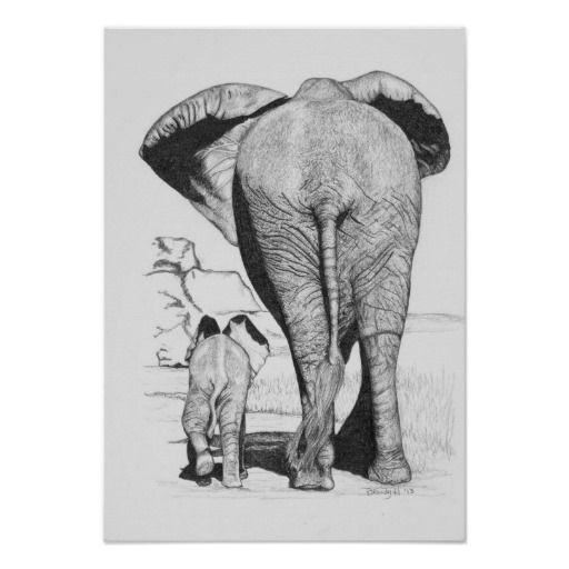 dibujos de elefantes a lapiz  Buscar con Google  Elefantes