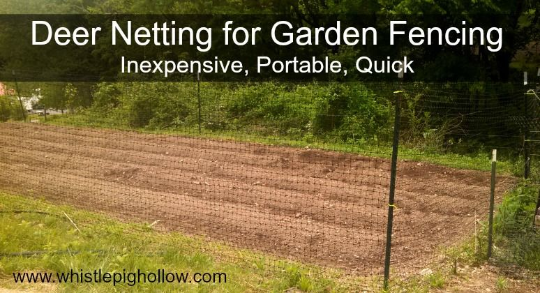 Deer Netting: Inexpensive, Quick, Portable Garden Fencing. #garden