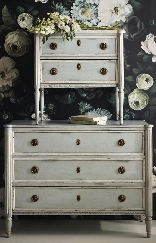 Etienne Nightstand Furniture French Dresser Blue