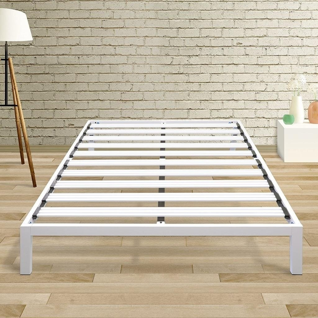 Twin Size Bed Frame Heavy Duty Steel Slats Platform Series Titan C