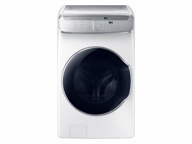 Samsung 6 0 Cu Ft Flexwash Washer In White Laundry Washing Machine Washer Gas Dryer Small Washer Dryer