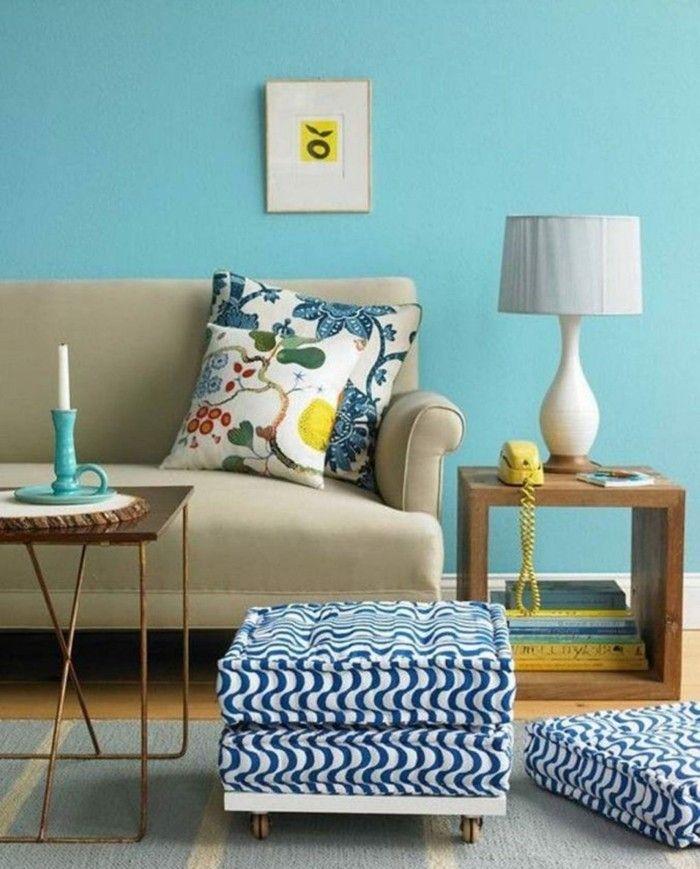 Raumgestaltung Farbe Beige Anthrazit Braun Raumgestaltung: Aktuelle Blautöne Und Farbmuster In Der Raumgestaltung