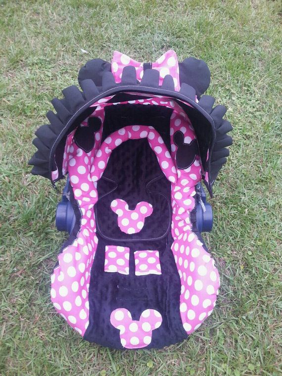 bbad55a07 minnie mouse Infant car seat cover canopy by madebymommie on Etsy ...