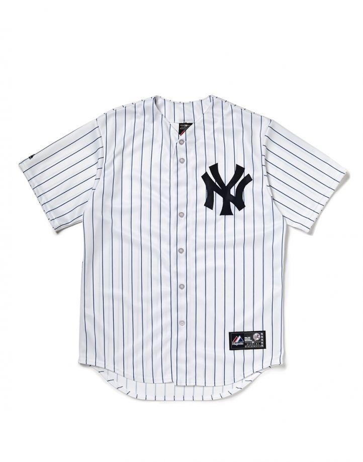 usine authentique Royaume-Uni Prix usine 2019 Majestic Athletic NY Yankees Replica Jersey with Pinstripe ...
