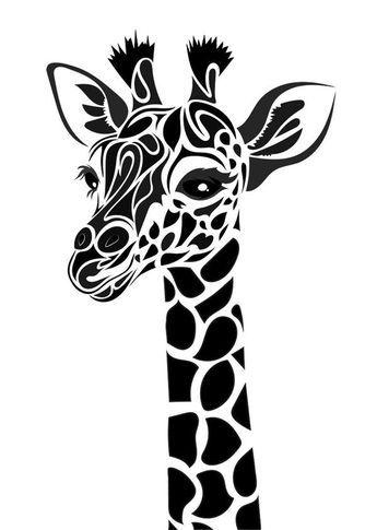 Tribal Giraffe Google Search Giraffe Tattoos Giraffe Drawing Silhouette Art