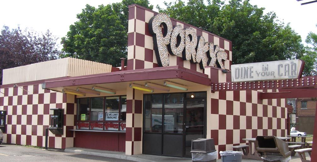 The Legendary Porky S Drive In Restaurant 1953 On East Lake Street