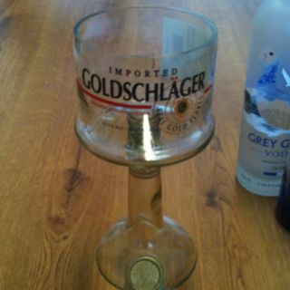 Goldschlager margarita glass made out of an empty bottle for Glasses made out of bottles