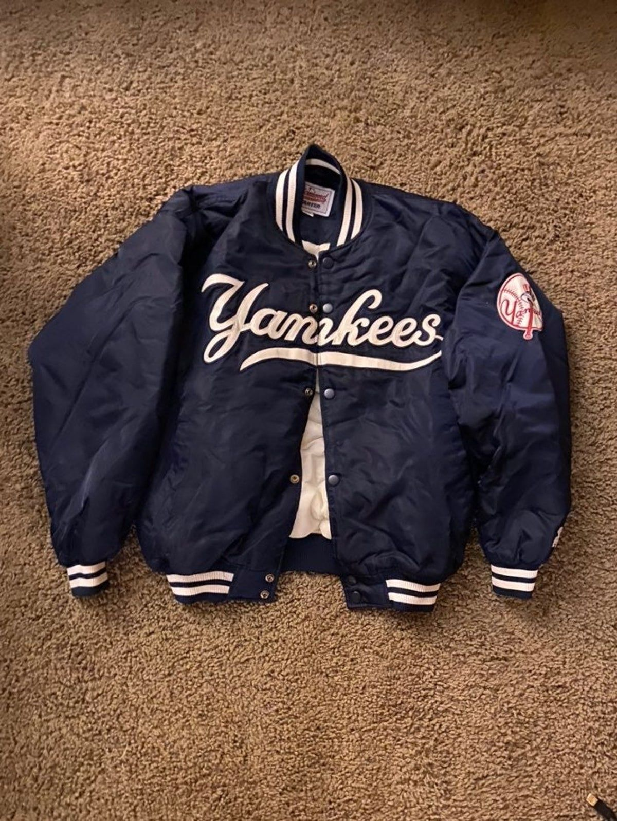 Yankees Starter Jacket Streetwear Men Outfits Bomber Jacket Vintage Stylish Hoodies [ 1598 x 1200 Pixel ]