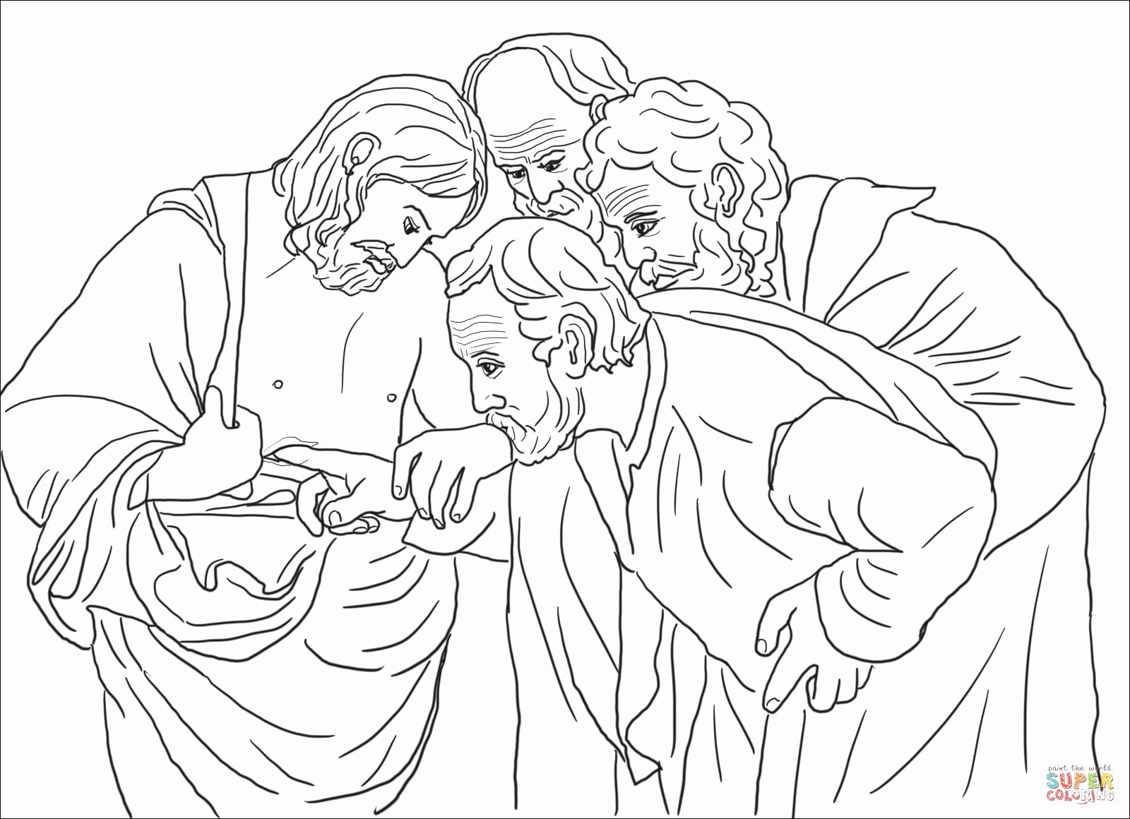 28 Doubting Thomas Coloring Page In 2020 Coloring Pages Bible