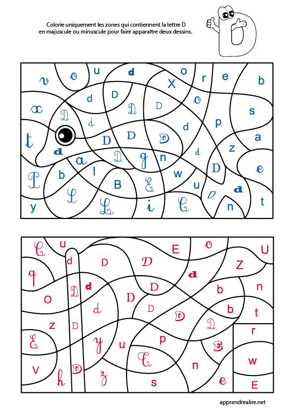La Lettre D Coloriage Magique Gs Coloriage Magique Coloriage Alphabet