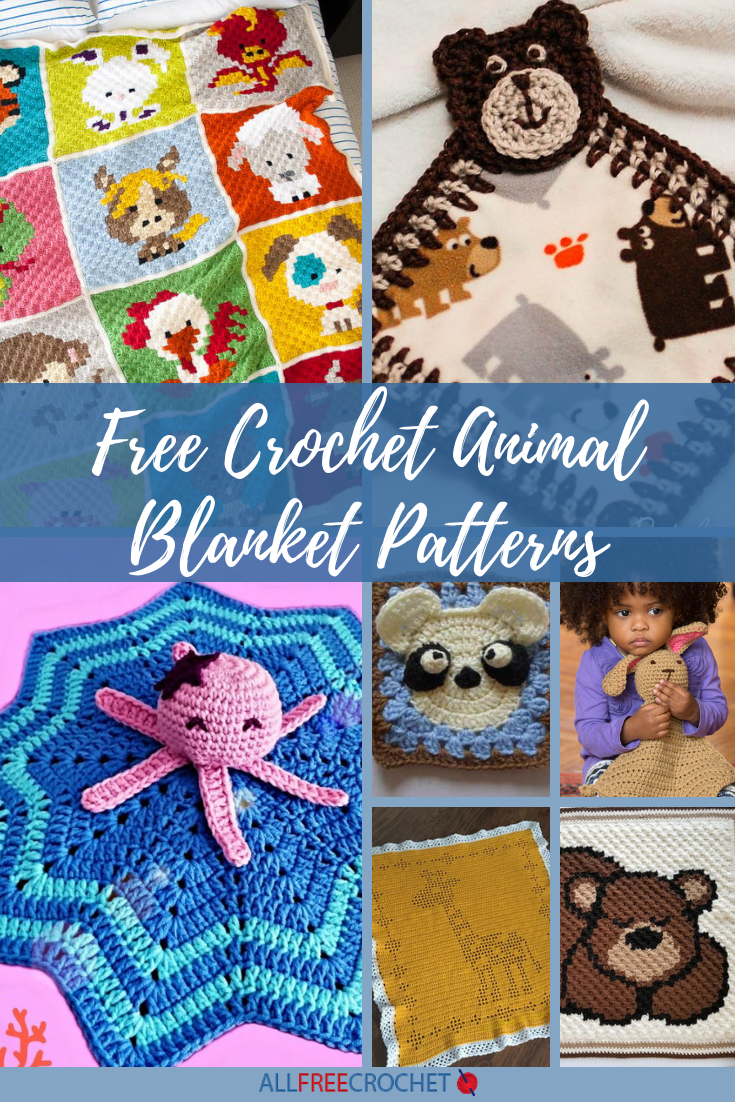 27 Free Crochet Animal Blanket Patterns Blankies