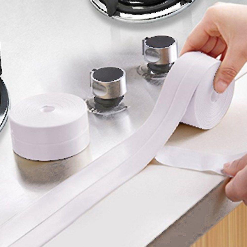 Kitchen Wall Bath Sink Basin Caulk Sealing Strip Waterproof Self-Adhesive Tape