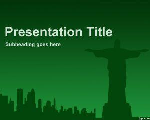 rio de janeiro powerpoint template background with green, Presentation templates