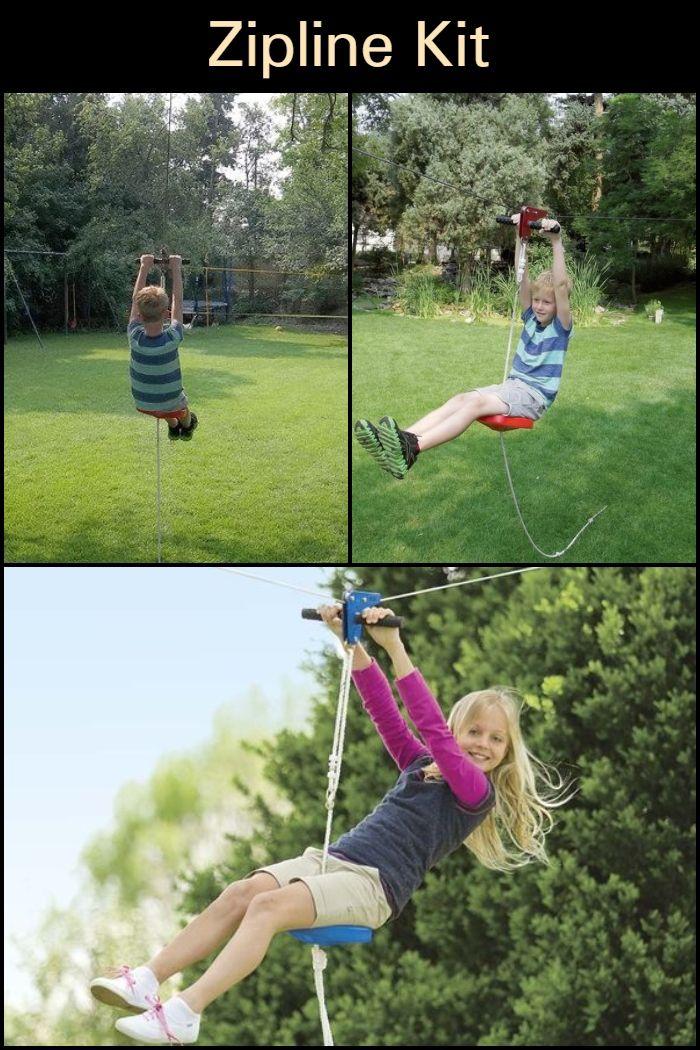 Backyard zip line kit for kids!   Ziplining, Zip line kits ...